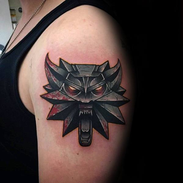 Witcher 3 Tattoo: 60 Witcher Tattoo Designs For Men