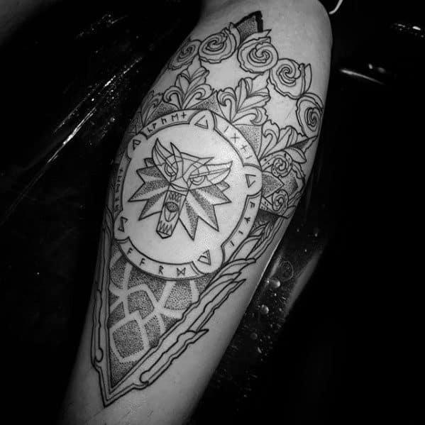 Witcher Male Tattoo Designs