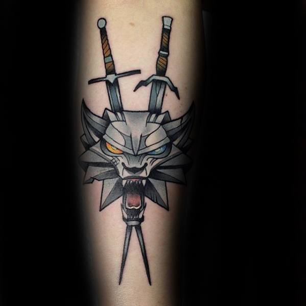 Witcher Mens Tattoo Designs