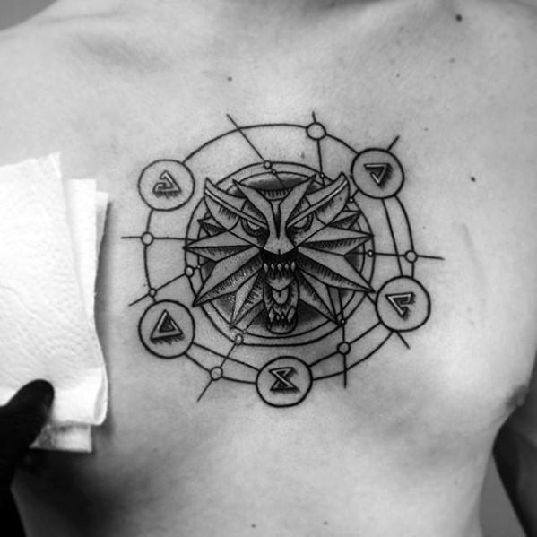 Witcher Mens Tattoo Ideas