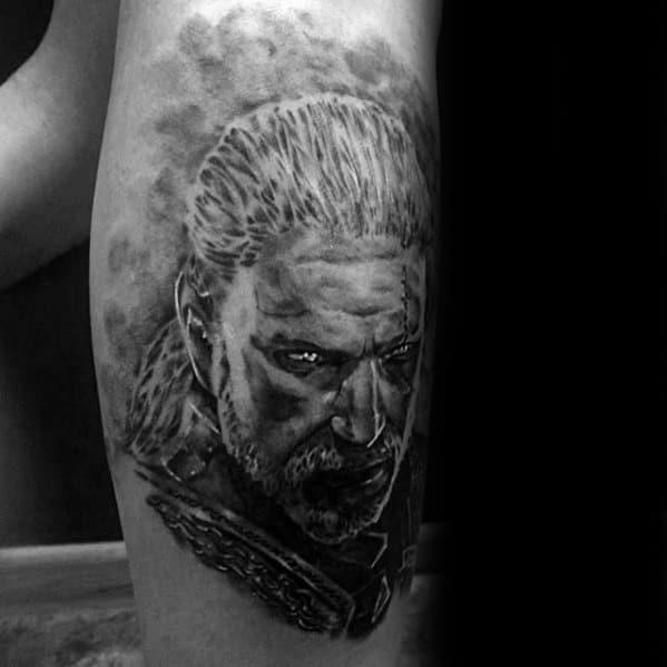 Witcher Tattoo Design On Man