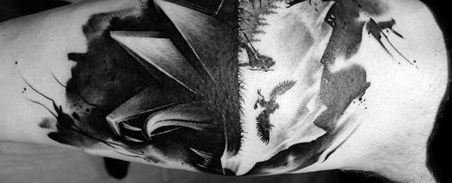Witcher Tattoo Designs For Men