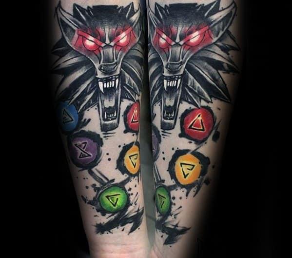Witcher Tattoo Ideas For Gentlemen