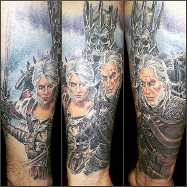 Witcher Tattoo Ideas For Males
