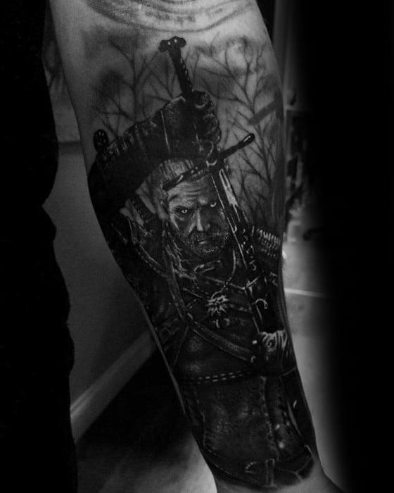 Witcher Tattoos Men