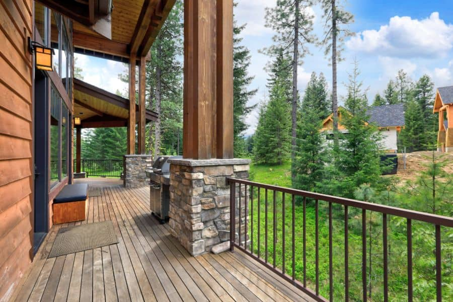 With Column Porch Railing Ideas 1
