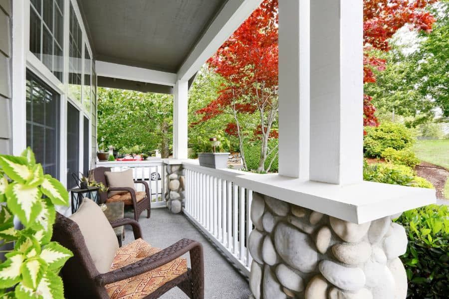 With Column Porch Railing Ideas 2