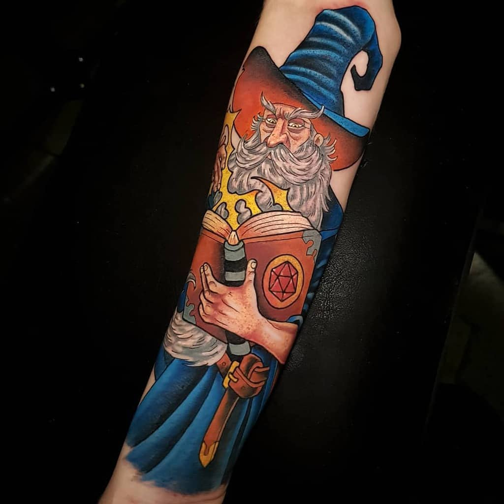 Wizard Dungeons And Dragons Tattoos Derek Tattoo