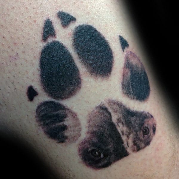 Wolf Eyes Mens Paw Tattoo On Arm
