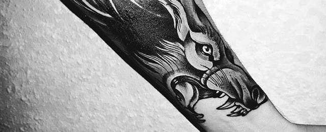 Wolf Forearm Tattoo Designs For Men