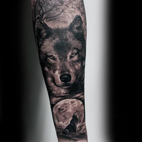 50 Realistic Wolf Tattoo Designs For Men - Canine Ink Ideas