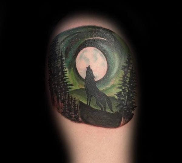 Elemental Wolf Tattoo