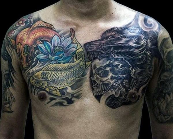 wolf-howling-tattoo-for-men