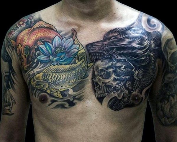 Wolf Howling Tattoo For Men