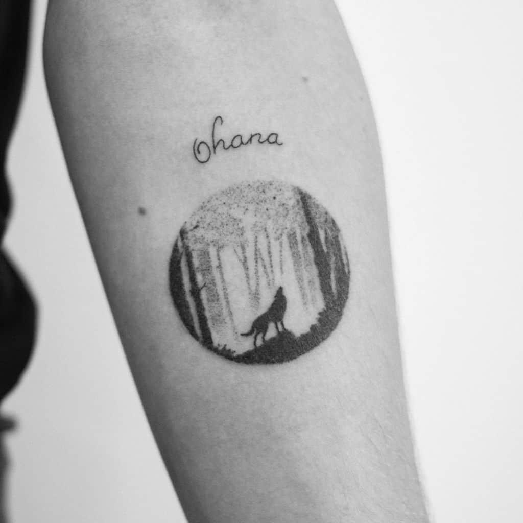 Wolf Ohana Tattoo