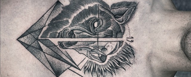 Wolf Skull Tattoo Designs For Men
