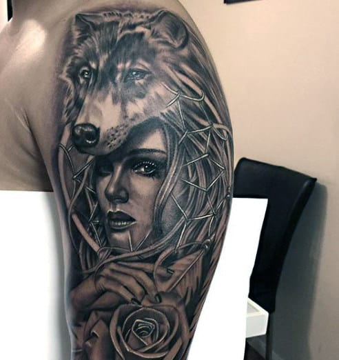 Wolf Tattoos Designs Men
