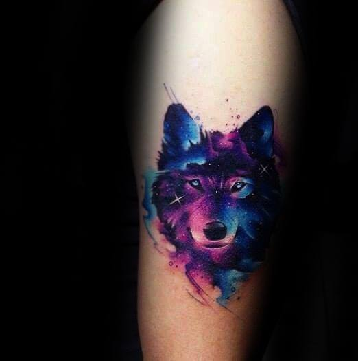 wolf-watercolor-guys-tattoo-ideas-on-forearm