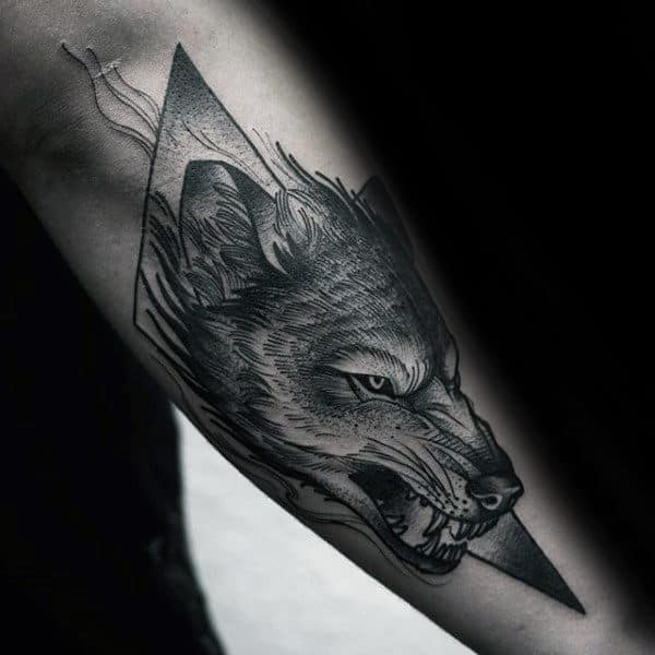 65beff8f1 40 Wolf Forearm Tattoo Designs For Men - Masculine Ink Ideas