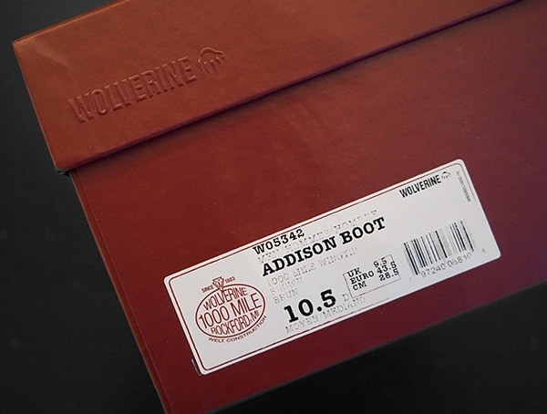 Wolverine 1000 Mile Boots Addison Brown Leather