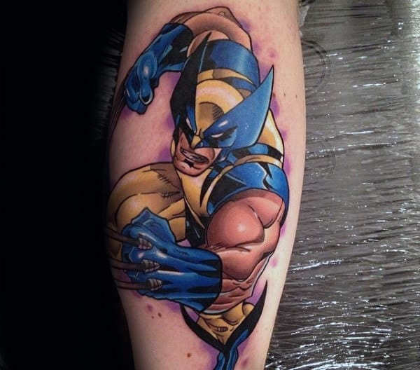 Wolverine Battle Mens Forearm Tattoos