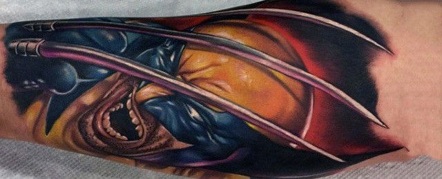 Wolverine Tattoo Designs For Men