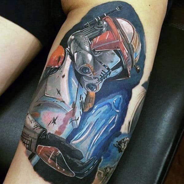 Wonderful Appartion Star War Tattoo Male Arms