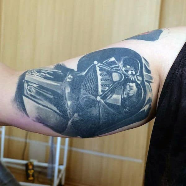 Wonderful Darth Vader Tattoo Male Arms