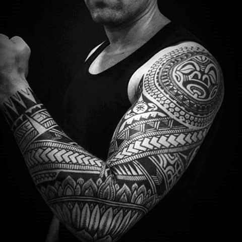 Wonderful Pattern Tattoo Male Full Sleeves