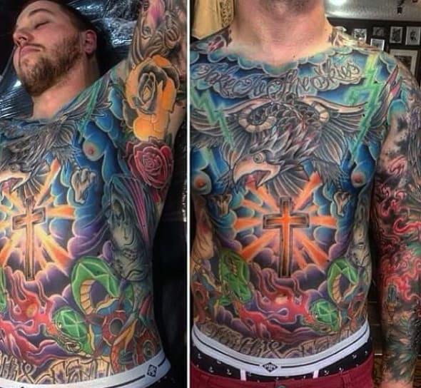 Wonderful Tattoo Male Armpits