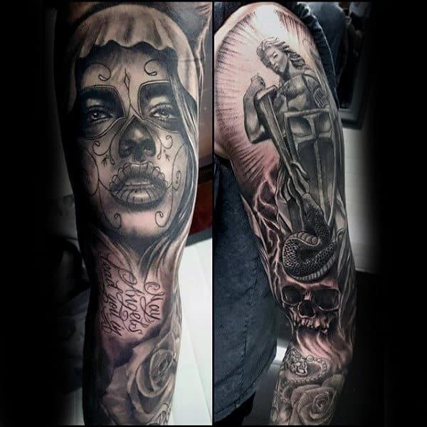 Wonderul Religious Tattoo Guys Full Sleeves