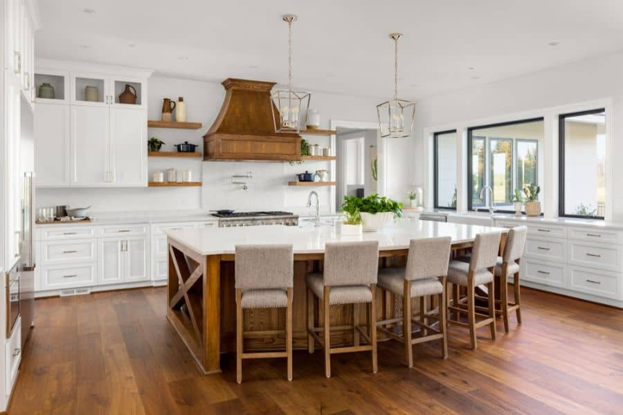 Wood Accents Modern Farmhouse Kitchen 1