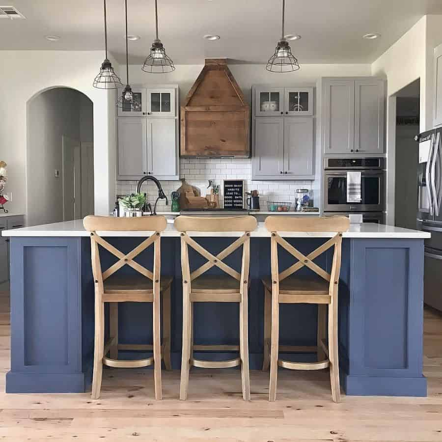 Wood Accents Modern Farmhouse Kitchen Halfscratchhome