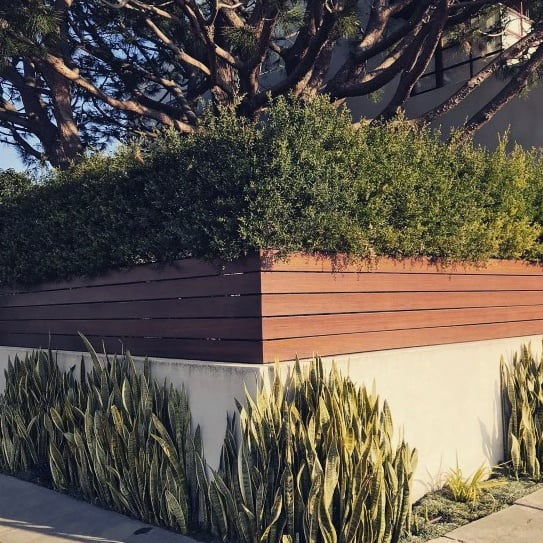 Wood And Composite Privacy Fence Front Yard Modern Ideas