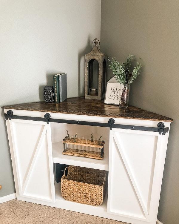 Wood And Metal Corner Entertainment Cabinets Ironwoodfab