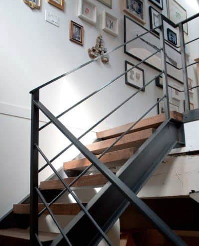 Wood And Steel Rail Staircase Ideas