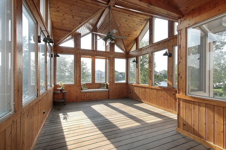 Wood Arizona Room Screened In Porch