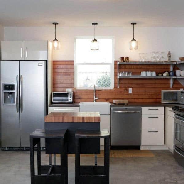 Wood Backsplash Home Ideas