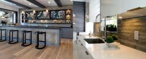 Top 60 Best Wood Backsplash Ideas – Wooden Kitchen Wall Designs