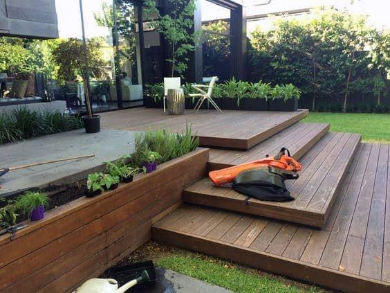 Top 60 Best Backyard Deck Ideas - Wood And Composite ... on Backyard Trex Deck Ideas id=41973