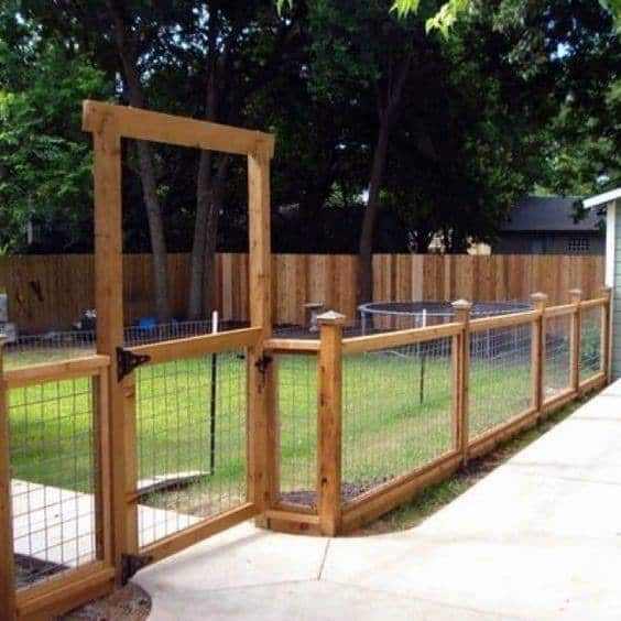 Wood Backyard Designs Dog Fence