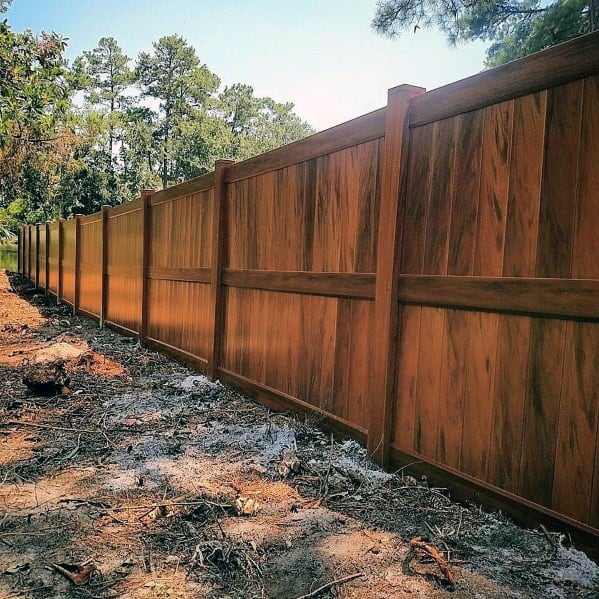 Wood Backyard Designs Privacy Fence