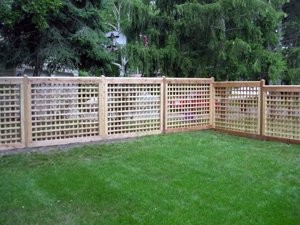 Wood Backyard Ideas For Dog Fence