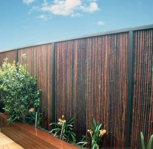 Wood Bamboo Fence Ideas