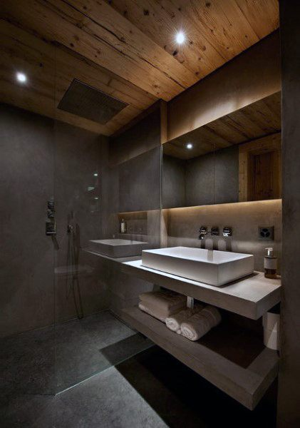 Wood Bathroom Ceiling Designs