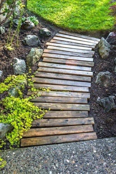 Wood Beam Boards Walkway Ideas