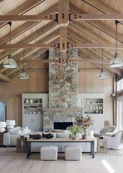 Wood Beam Ceiling Living Room Ideas