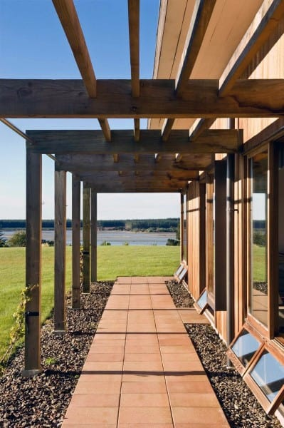Wood Beam Walkway Pergola Ideas