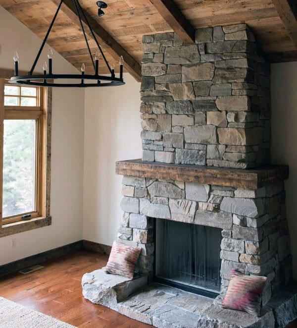 Top 70 Best Stone Fireplace Design Ideas Rustic Rock Interiors