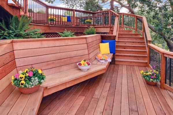 Wood Bench Deck Design Ideas